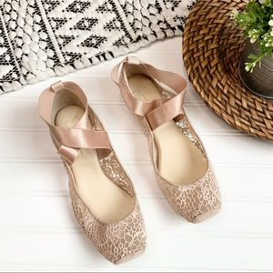JESSICA SIMPSON Pink Ballet Slippers
